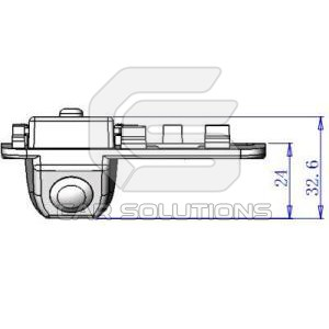 Honda Civic reverse camera dimensions