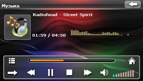 Прослушивание MP3-файлов в автомобильном навигаторе Navi N43 BT