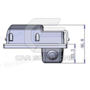 Land Rover Freelander reverse camera dimensions