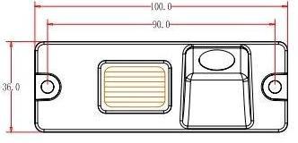 Размеры камеры заднего вида для Mitsubishi Pajero