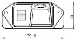 Размеры камеры заднего вида для Mitsubishi Lancer