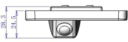 Dimensions of Rear View Camera for Hyundai Santa Fe New