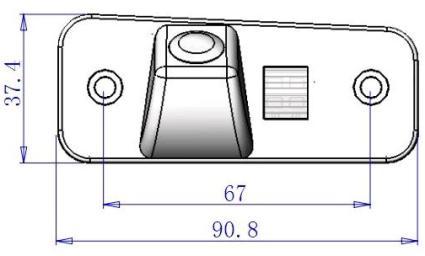 Размеры камеры заднего вида для Hyundai