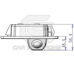 Размеры камеры для Audi