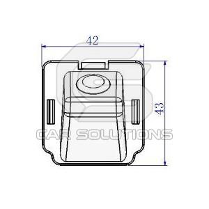 Mitsubishi Outlander reverse camera dimensions