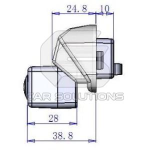 Lexus reverse camera dimensions