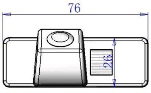Размеры камеры заднего вида для Nissan