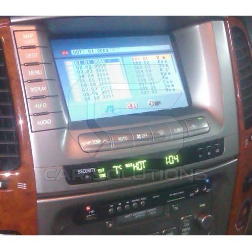 DVD player in Land Cruiser 100