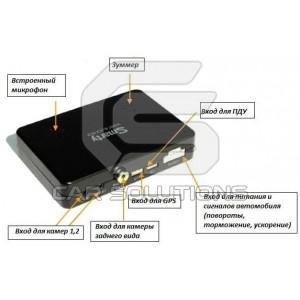 Автомобильный видеорегистратор Smarty BX3000. Вид сзади
