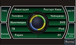 Меню мультимедийного навигационного центра Phantom DVM-1320G HDi для Skoda Octavia 5