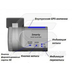 Видеорегистратор с GPS. Вид сзади