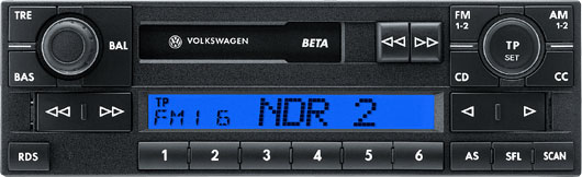 Головное устройство Volkswagen Beta