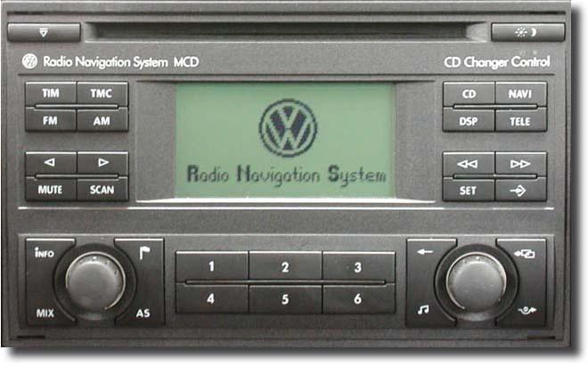 Autorradio Volkswagen MCD