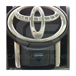 Toyota Land Cruiser camera installed under the badge