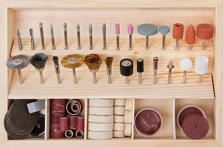 Комплектація набору аксесуарів для шліфмашинки