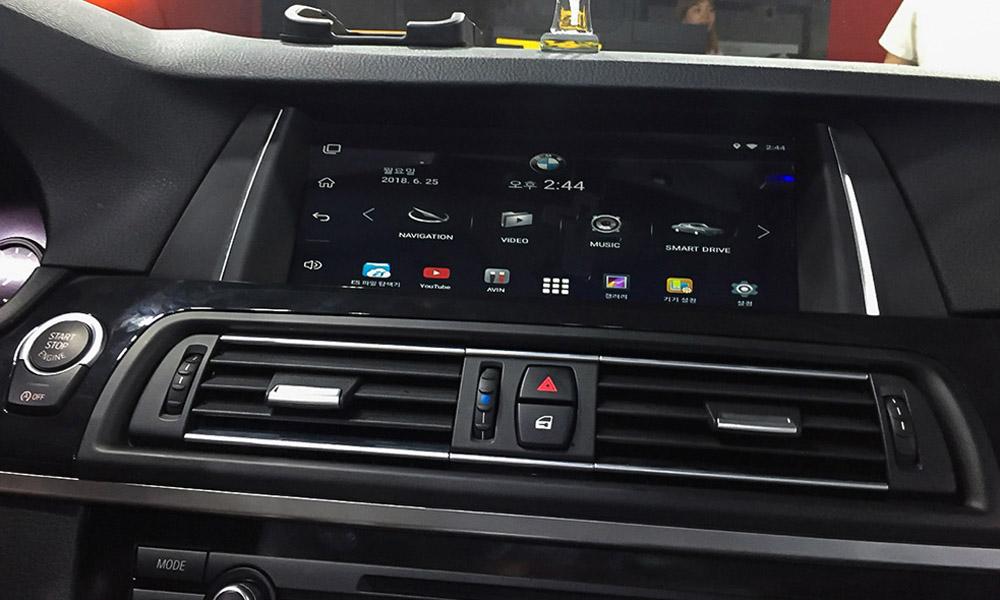 BMW touch screen menu