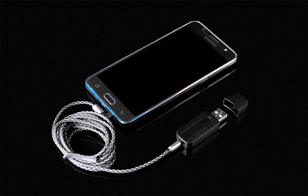 USB AUX smartphone connection