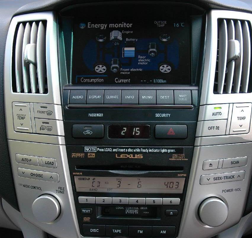 Lexus RX head unit