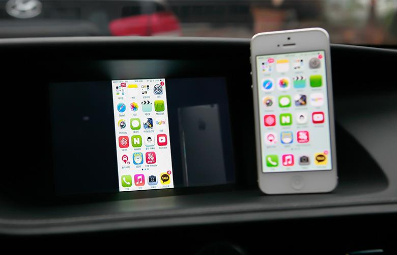 Беспровдное зеркалирование экрана смартфона с адаптером Apcast