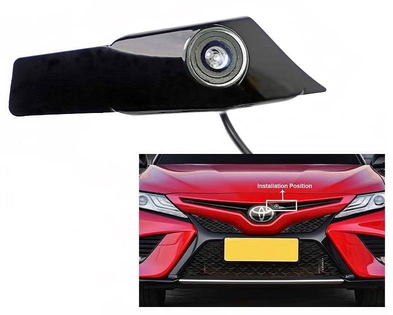 Установка камеры переднего вида в значке Toyota Camry