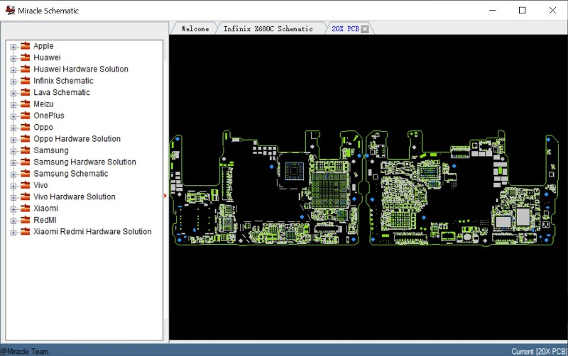 Miracle Schematics Pro software looks like this